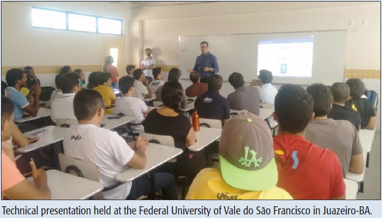 Technical presentation held at the Federal University of Vale do São Francisco in Juazeiro-BA.