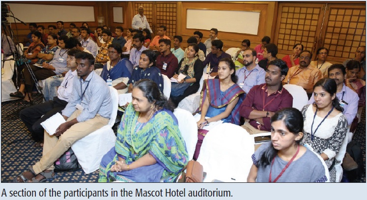 A section of the participants in the Mascot Hotel auditorium.