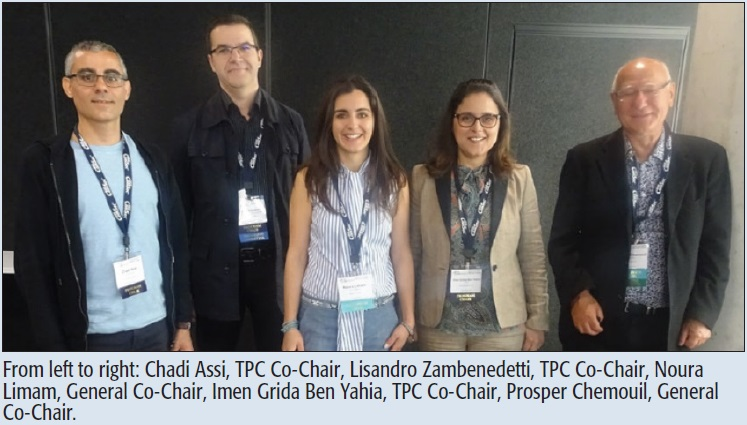 From left to right: Chadi Assi, TPC Co-Chair, Lisandro Zambenedetti, TPC Co-Chair, Noura Limam, General Co-Chair, Imen Grida Ben Yahia, TPC Co-Chair, Prosper Chemouil, General Co-Chair.